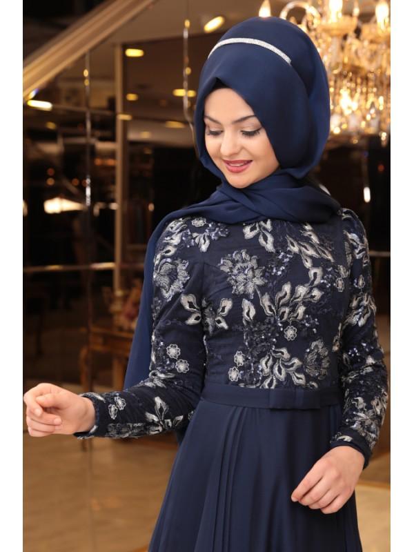 d1f09b76cc195 Pınar Şems Melike Abiye Başlık Lacivert