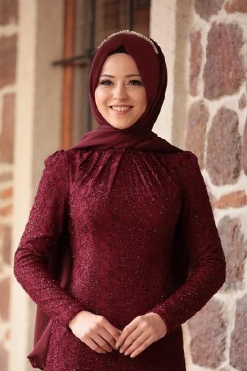 Al Marah Alya Elbise Bordo