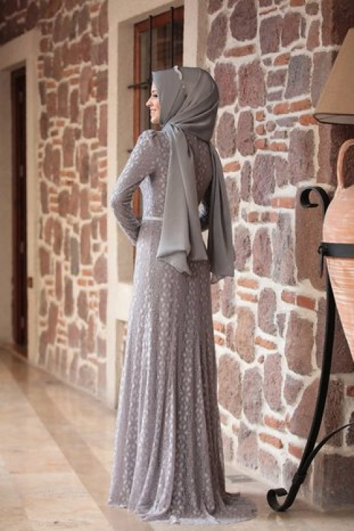 Al Marah Alya Elbise Gri