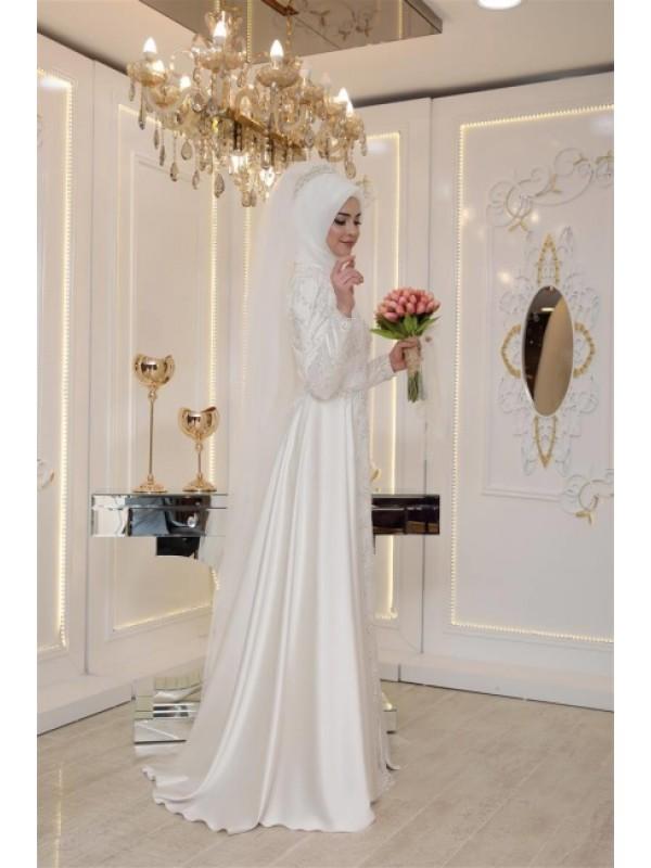 ed1ff8f65b94f Pınar Şems İkbal Abiye Ekru