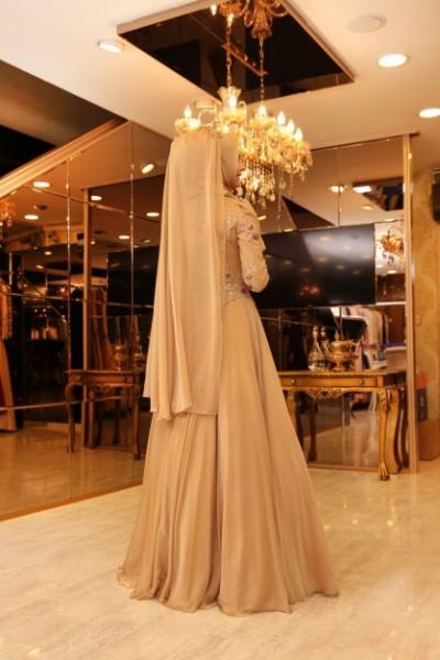 Pınar Şems Beril Abiye Gold