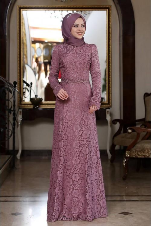Al Marah Beyza Elbise Gül Kurusu
