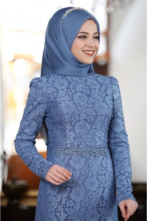 Al Marah Beyza Elbise İndigo