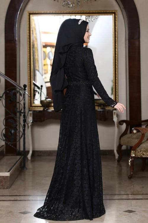 Al Marah Beyza Elbise Siyah