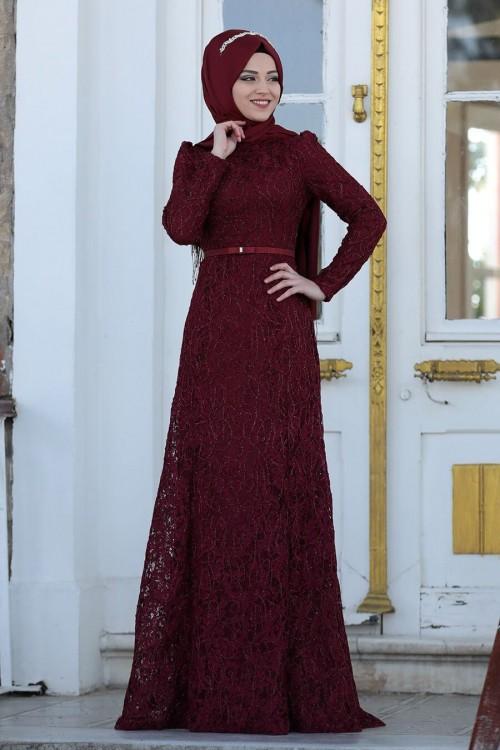 Al Marah Defne Elbise Bordo