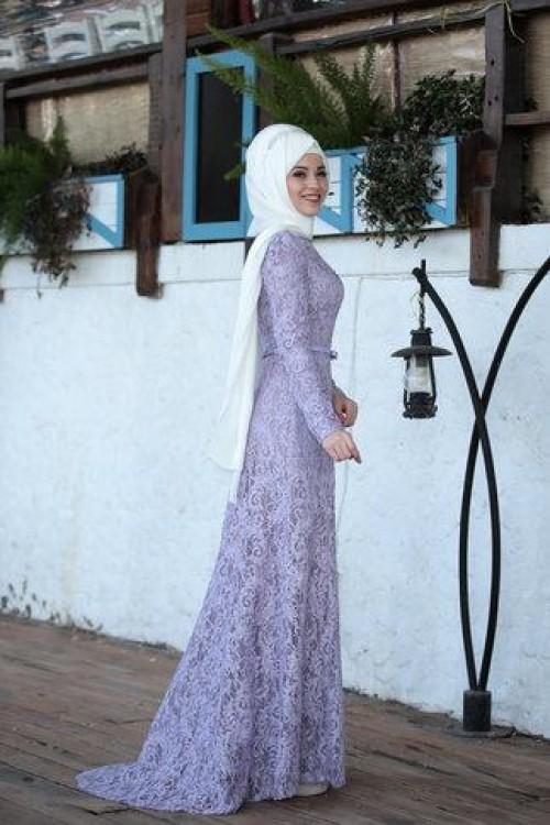 Al Marah Defne Elbise Lila