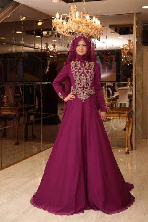 Pınar Şems Lale Abiye Fuşya