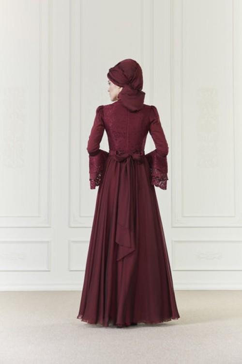 An Nahar İlruba Elbise Bordo