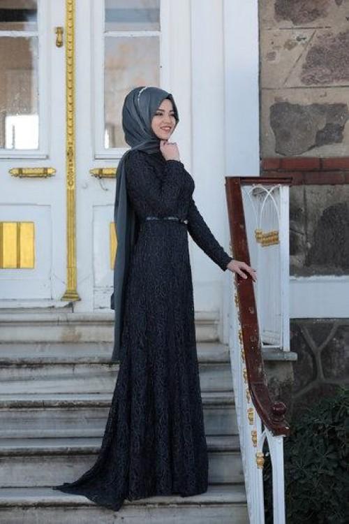 Al Marah Defne Elbise Gri