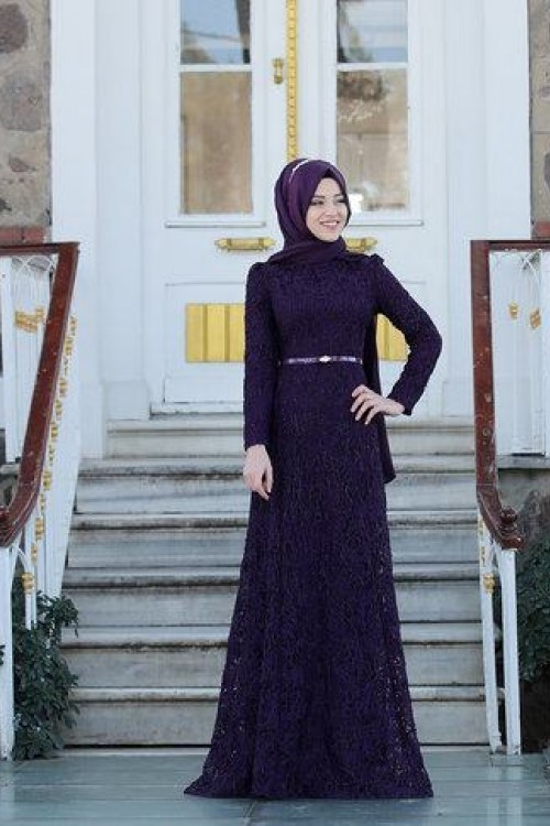 Al Marah Defne Elbise Mor