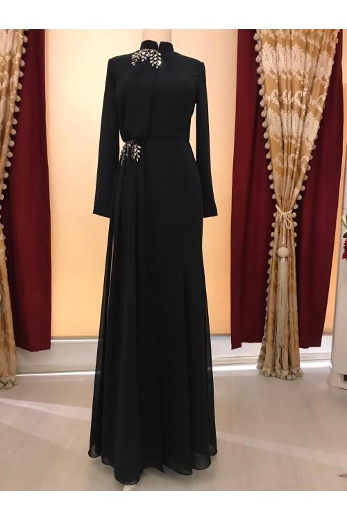 Zuhal Sagsöz Sena Elbise Siyah