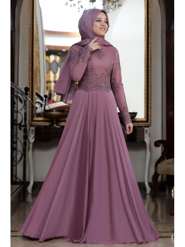 73f7b3a328877 Al Marah Mavi Tılsım Abiye Gül Kurusu | Al Marah Abiye Elbise Modelleri