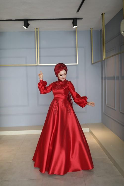 My Dreams Yasemen Abiye Kırmızı