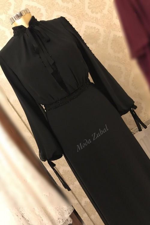 Zuhal Sagsöz Zarif Abiye Siyah